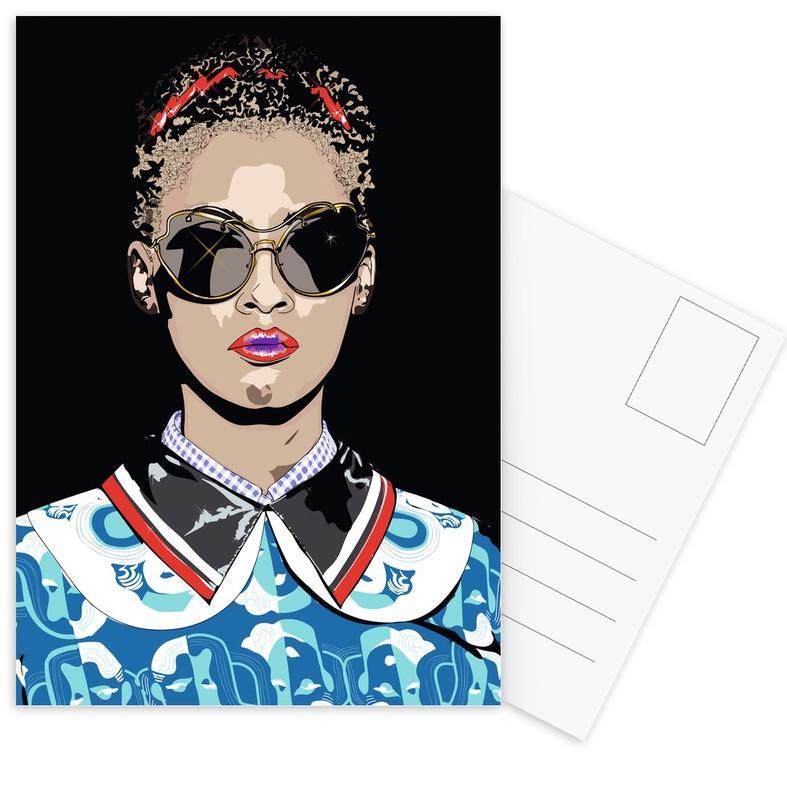 Modeillustration, Just a Girl -Postkartenset