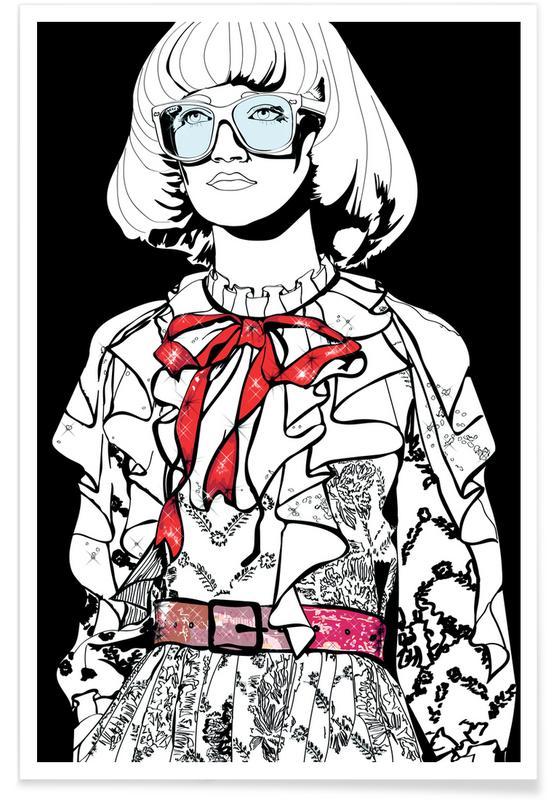 Modeillustration, Just Fashion 1 -Poster