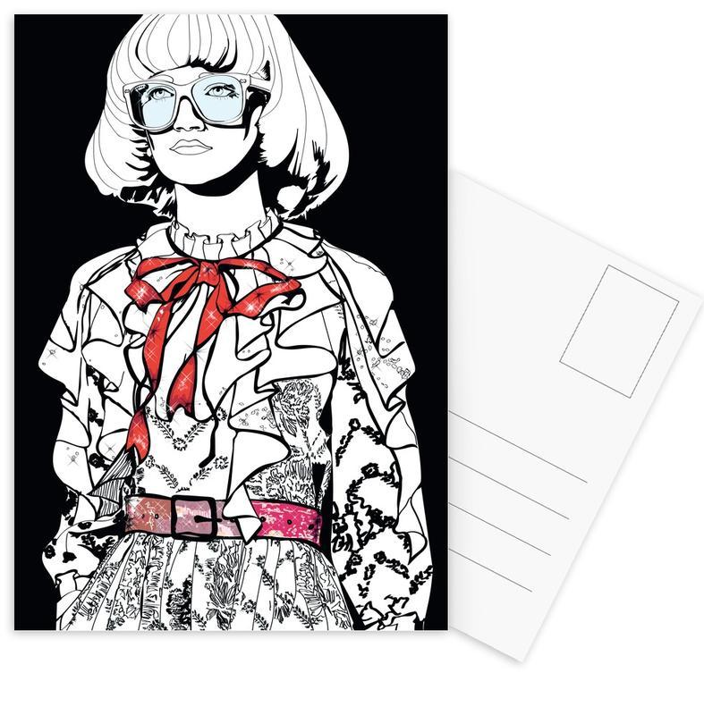 Modeillustration, Just Fashion 1 -Postkartenset