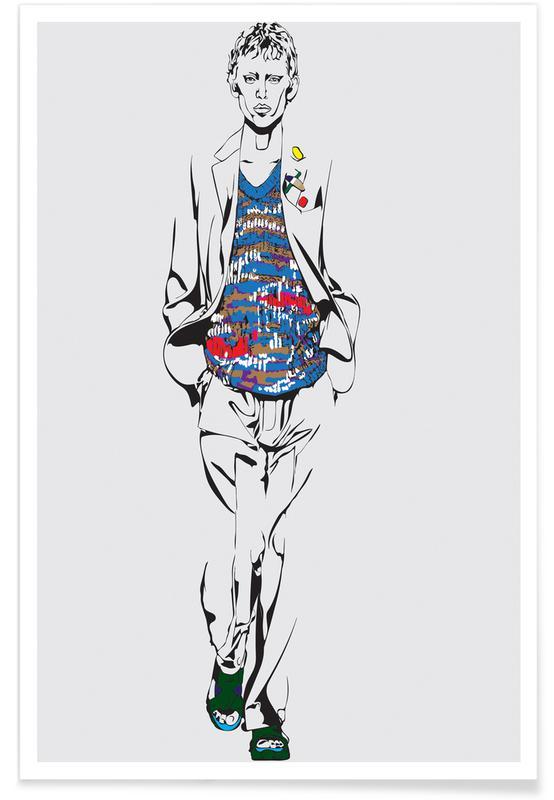 Modeillustration, Man 1 -Poster