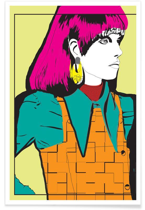 Modeillustration, Pop Art, Pop 1 -Poster