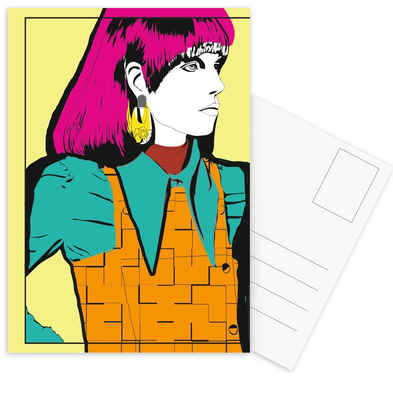Illustrations de mode, Pop Art, Pop 1 cartes postales