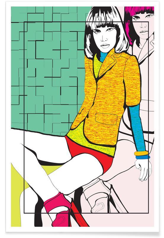 Modeillustration, Pop Art, Pop 4 -Poster