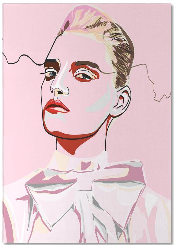 Modeillustration, Porträts, Pretty in Pink 1 -Notizblock
