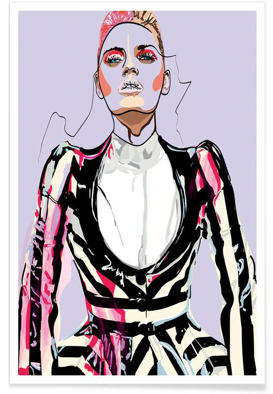 Modeillustration, Pretty in Pink 3 -Poster