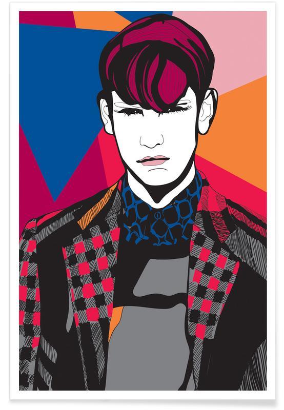 Modeillustration, The Boy -Poster