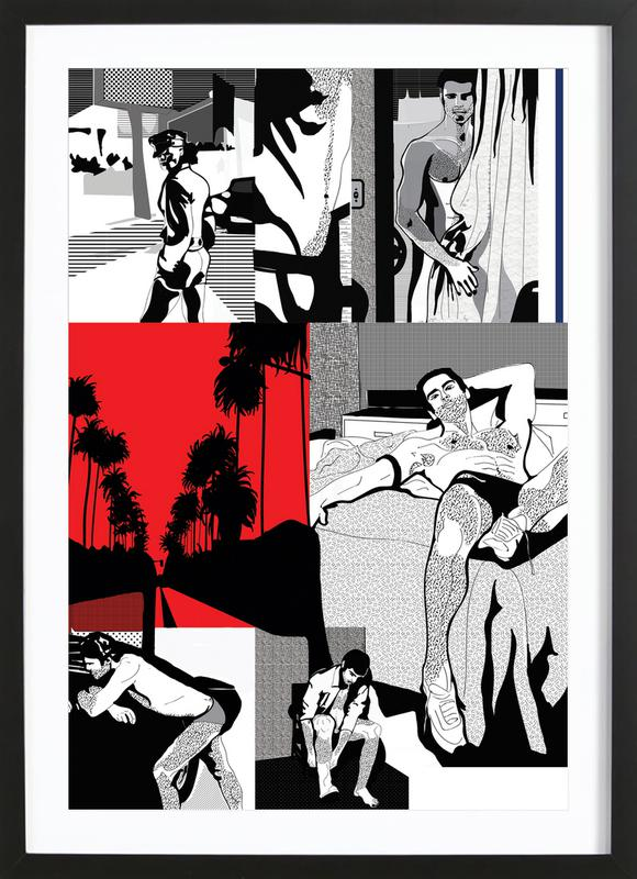 West Hollywood ingelijste print