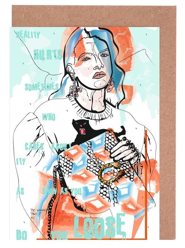 Portraits, Street Art, Reality Hurts Sometimes cartes de vœux