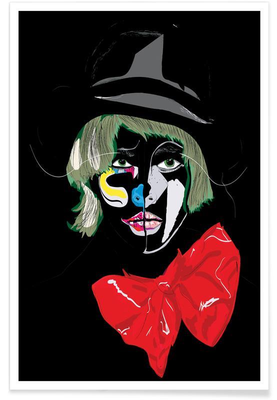 Modeillustration, Clown -Poster