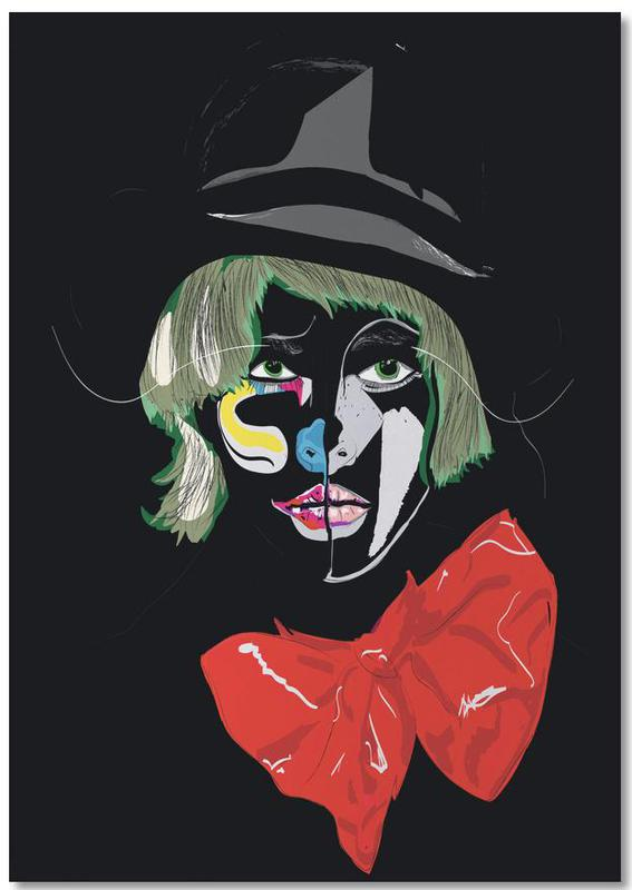 Modeillustration, Clown -Notizblock