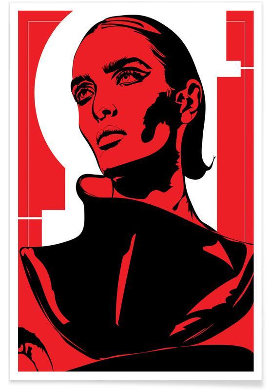 Modeillustration, Porträts, Iconographic 1 -Poster