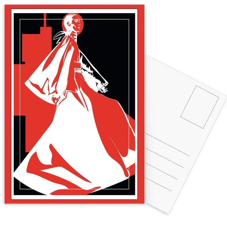 Modeillustration, Iconographic 2 -Postkartenset