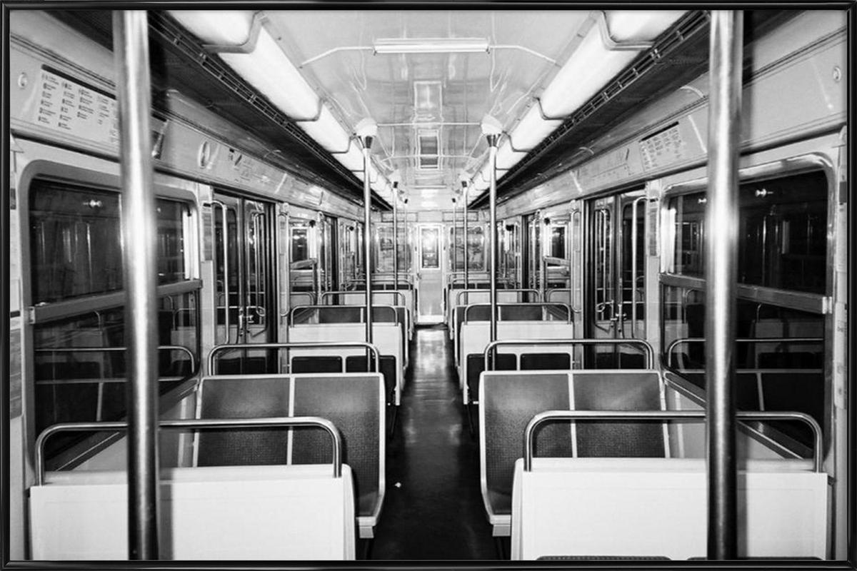 Metro black & white Framed Poster