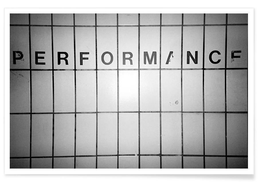 Performance black & white -Poster