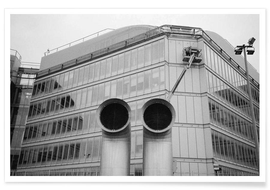 Gare de Lyon black & white Poster