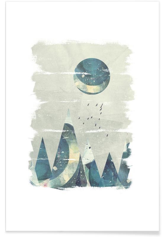 Abstracte landschappen, Abstract Mountain poster