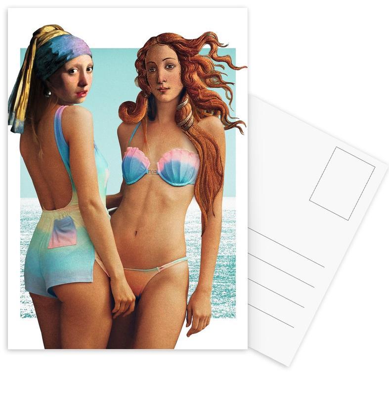 Beach Girls Postcard Set