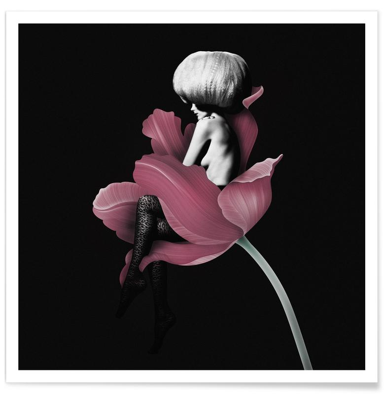 Fashion Illustrations, Roses, Parfum for You 4 Poster