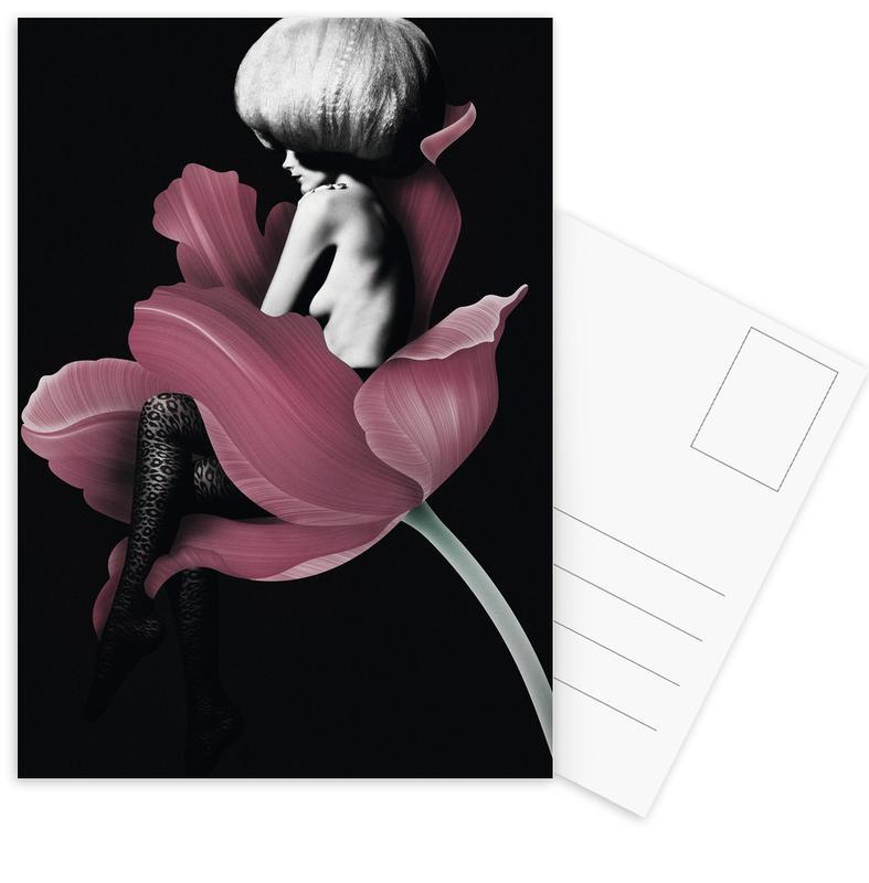 Rosen, Modeillustration, Parfum for You 4 -Postkartenset