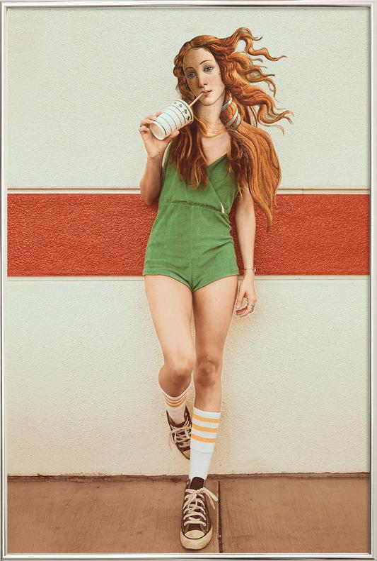 Venus Chillout -Poster im Alurahmen
