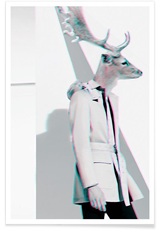 Creatures & Hybrids, Fashion Photography, Deer Poster