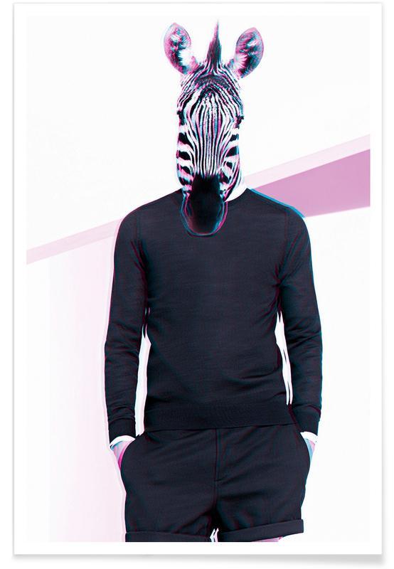 Creatures & Hybrids, Fashion Photography, Zebra Poster