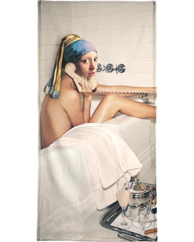 Girl with Pearl Earring Bath time Bath Towel