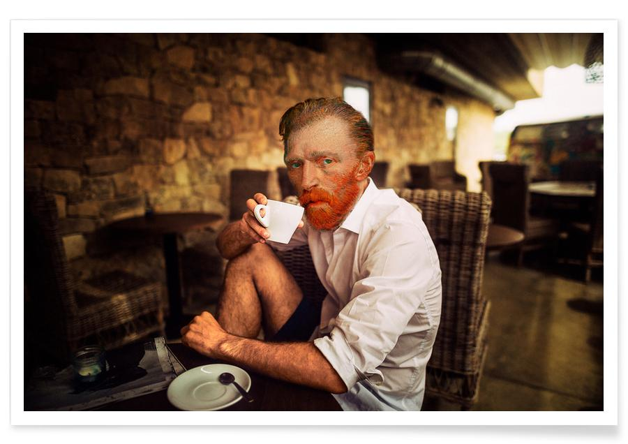 Van Gogh coffee time poster