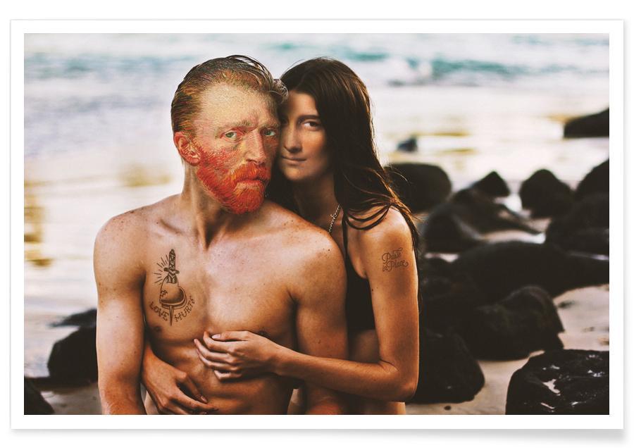 Couples, Vincent Van Gogh, Humour, Love Hurts affiche