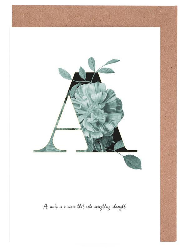 Flower Alphabet - A Greeting Card Set