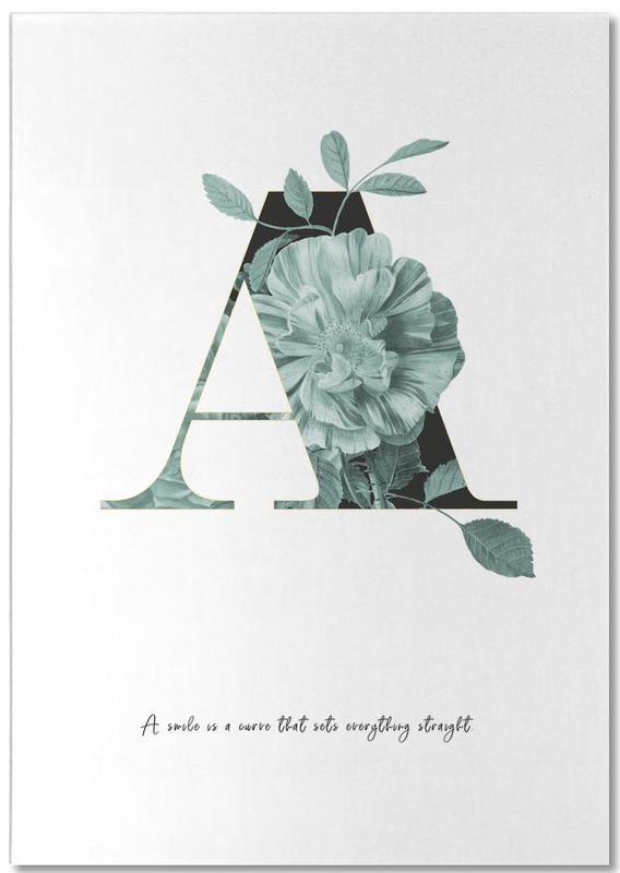 Flower Alphabet - A Notepad