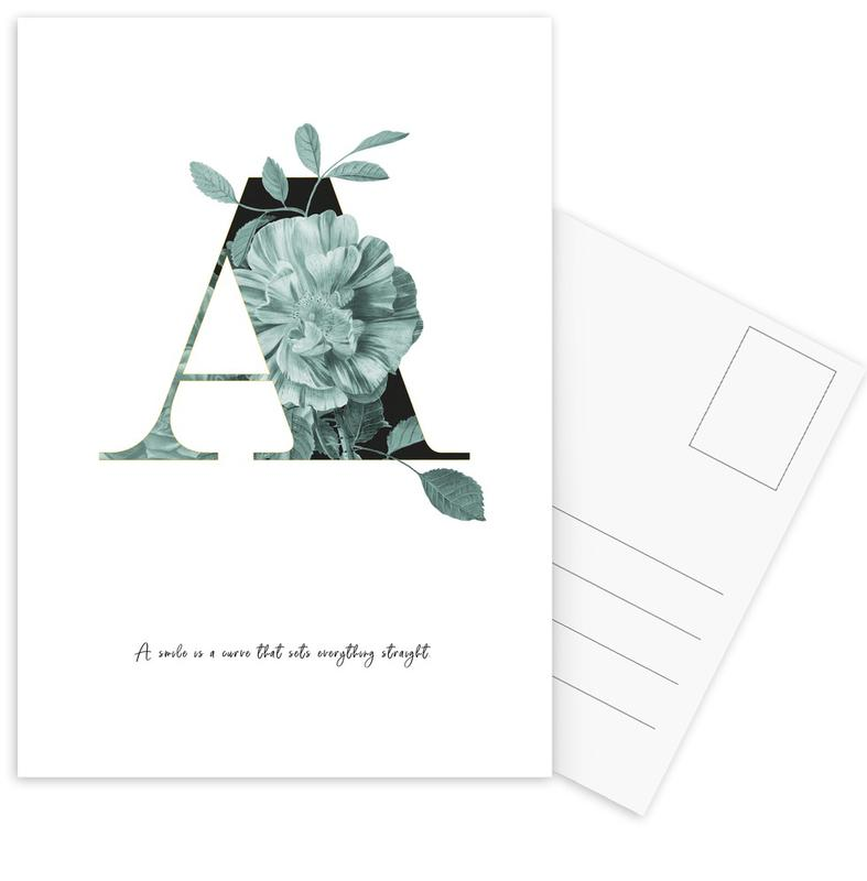 Flower Alphabet - A cartes postales
