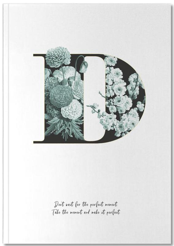 Flower Alphabet - D Notebook
