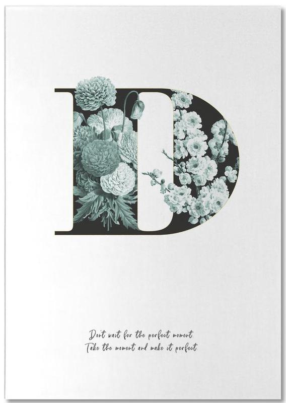 Flower Alphabet - D -Notizblock
