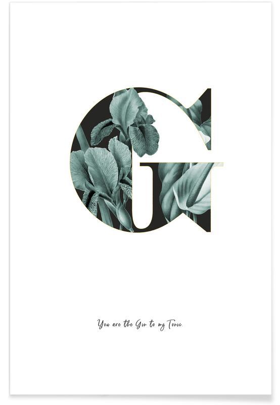 Alphabet & Buchstaben, Zitate & Slogans, Flower Alphabet - G -Poster
