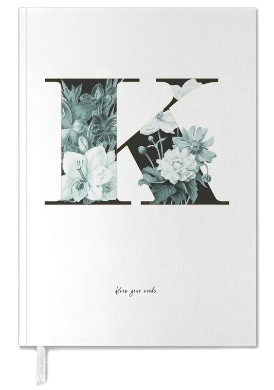 Alphabet & Letters, Quotes & Slogans, Flower Alphabet - K Personal Planner