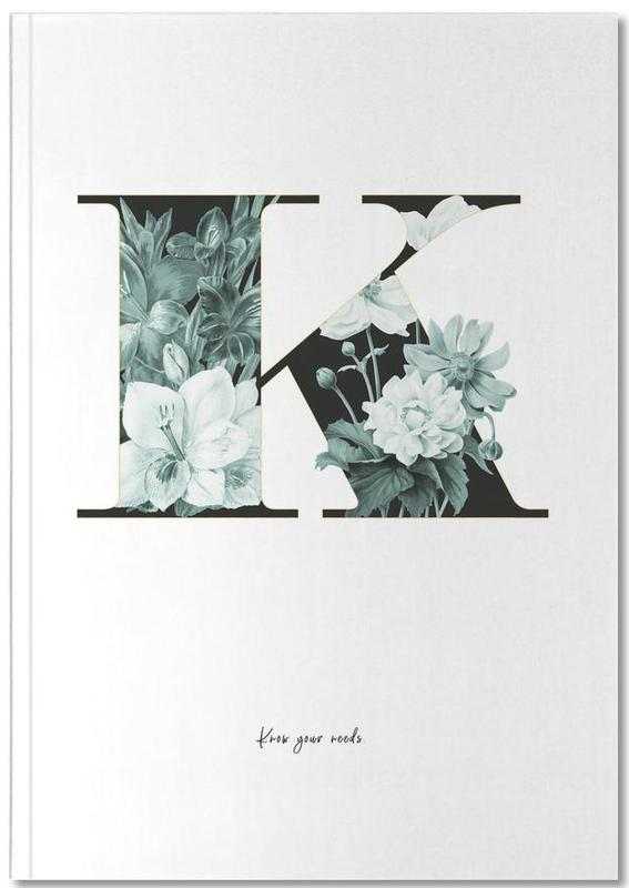 Flower Alphabet - K Notebook