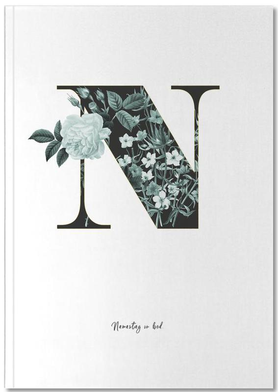 Flower Alphabet - N Notebook