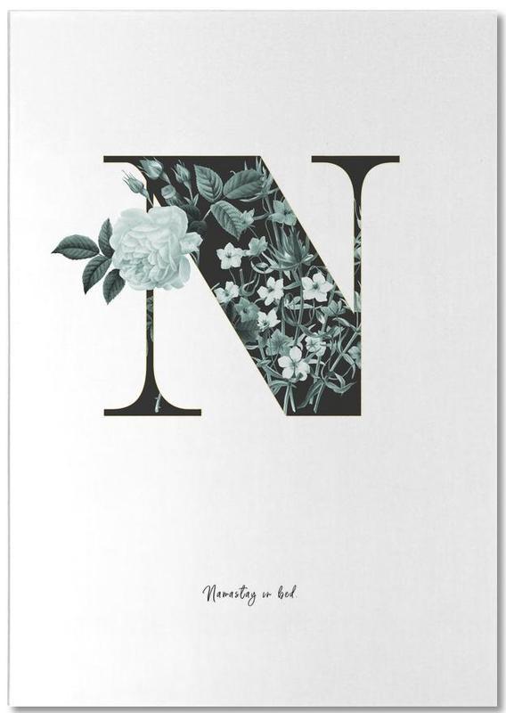 Flower Alphabet - N Notepad