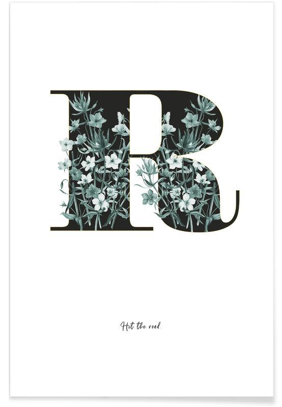 Alphabet & Buchstaben, Zitate & Slogans, Flower Alphabet - R -Poster