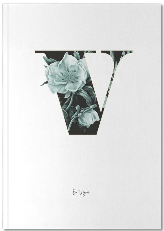 Flower Alphabet - V Notebook