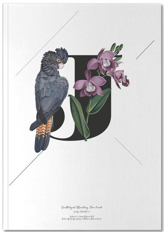 Botanical Alphabet - J Notebook