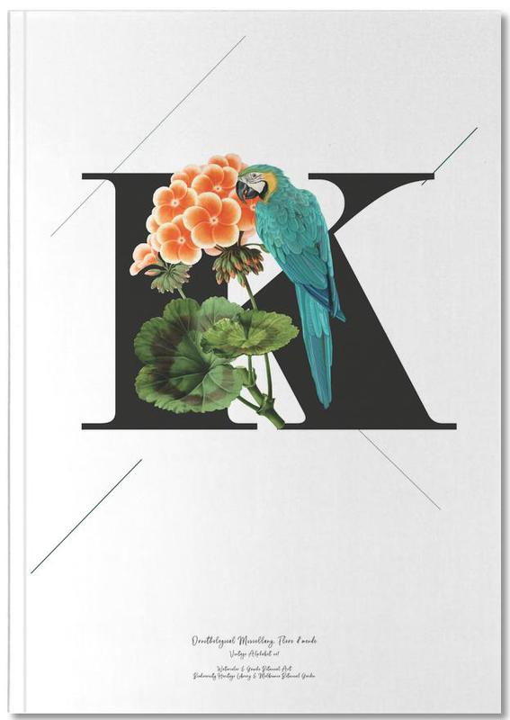 Botanical Alphabet - K Notebook