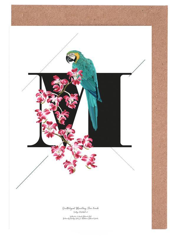 Botanical Alphabet - M -Grußkarten-Set