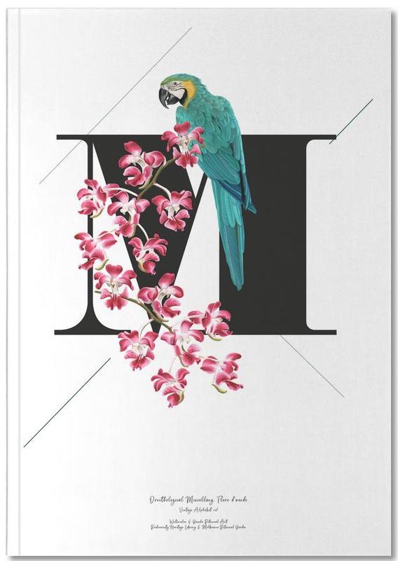 Botanical Alphabet - M Notebook