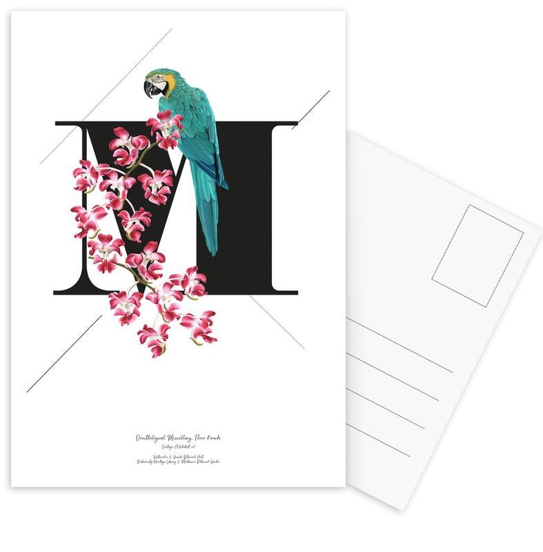 Botanical Alphabet - M -Postkartenset