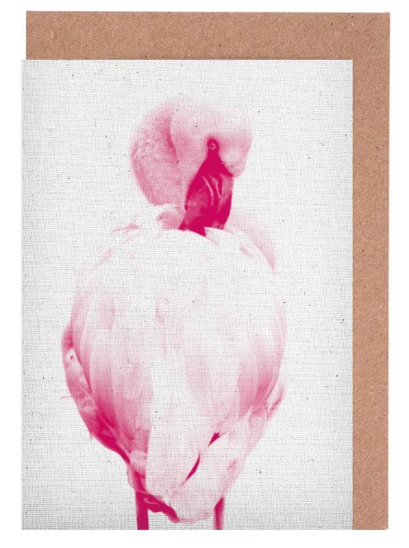 Flamingo 02 Greeting Card Set