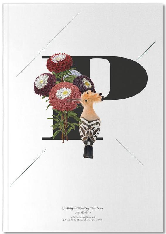 Botanical Alphabet - P Notebook