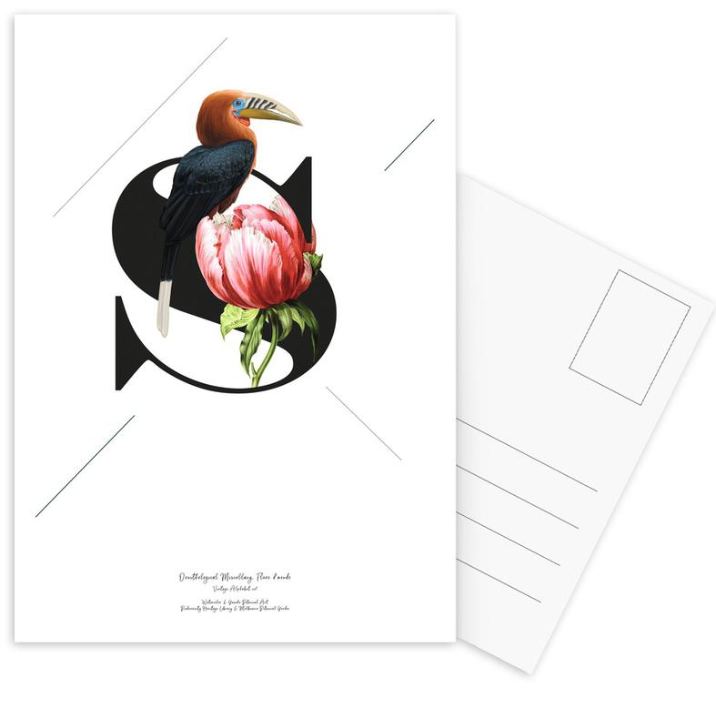 Botanical Alphabet - S Postcard Set