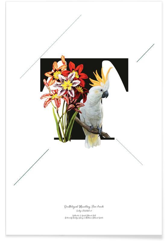Alfabet en letters, Botanical Alphabet - T poster